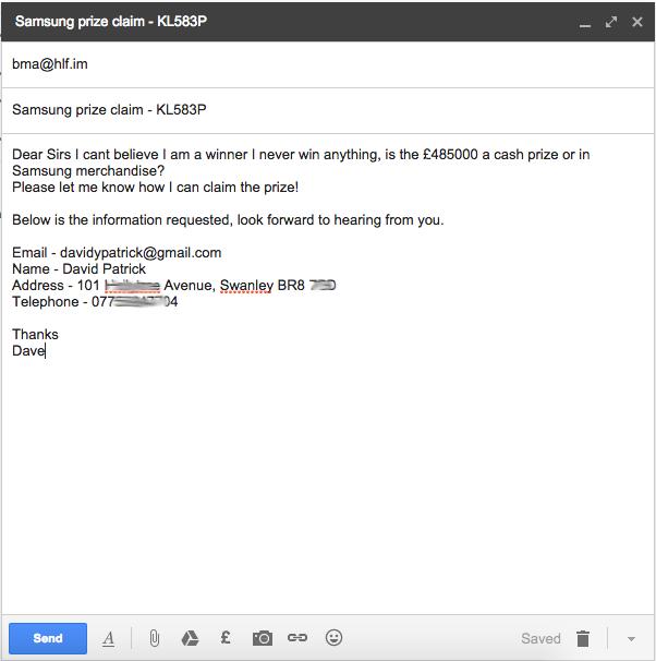 Claim Email